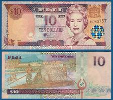 FIJI  10 Dollars (2002)  UNC  P.106