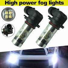 2x 100W H10 9145 LED White Fog Lights High Power CREE 6000K Driving Bulbs 1500LM