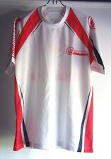 Beretta Pro Team Shirt Small Red White Black 100% Polyester Short Sleeve Active