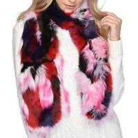UGG Patchwork scarf NWT NEW furry faux fur pink black white red purple fluffy ua
