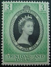 TRINIDAD & TOBAGO 1953: CORONATION OF QUEEN ELIZABETH II;  MNH STAMP