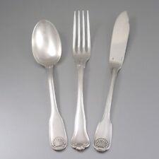 Vintage French ChristofleSilver Plated Vendôme Spoon & Fish Knife, Violon Fork