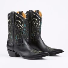The Old Gringo Womens 8 B Black/ Blue / White Leather Cowboy Western Boots Eagle