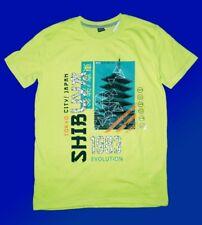 schickes Kindershirt Jungenshirt T.-Shirt Gr. 158/164 neongrün  NEU