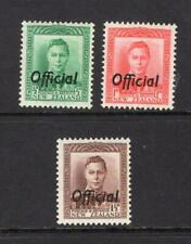 New Zealand 1938 Officials Set - OG MH - SC# O72-O74 Cats $50.50