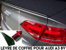 LAME LEVRE COFFRE SPOILER BECQUET AILERON HAYON MALLE pour AUDI A3 8V 2013-2018