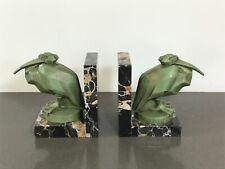 Pair of Art Deco Pelican Bookends signed L. Artus ( Max Le Verrier)
