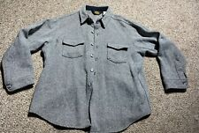 Vintage Men's Woolrich Wool Mackinaw LONG SLEEVE Shirt Jacket XL Button Down