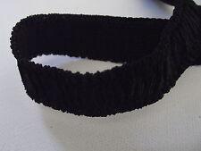 Ruban élastique NOIRE SOUPLE 21 mm vendu au mètre * 2,1 cm * mercerie couture