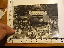Vintage MARIONETTE PHOTO, Stages: old Trailer theatre PIRATE FLAG dept Parks 50'