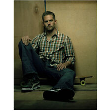 Paul Walker Seated on Skateboard Looking Serious 8 x 10 Inch Photo