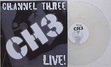 Channel three-Live LP Clear vinyl ch 3 simple tones stepmothers Posh Boy Punk