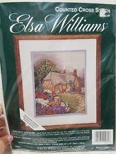 Vtg Elsa Williams TWLIGHT COTTAGE counted cross stitch kit 02081 RARE USA