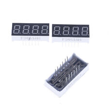 2pcs 0.36 inch 4 digit led display 7 seg segment Common cathode Bright Red vbuk