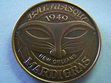 1972 Bal Masque EVERYTHING IS BEAUTIFUL Antique Bronze Mardi Gras Doubloon