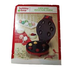 Holiday Time Cake Pop Donut Hole Maker New NIP Red