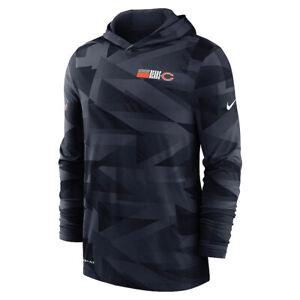 Brand New 2020 NFL Chicago Bears Nike Sideline Impact Hoodie Long Sleeve T-Shirt