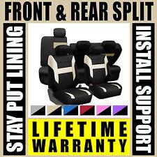 Tan & Black Complete Full Car Seat Covers Set - OEM Split Fold Truck SUV Gr4467