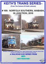 Keith's Trains Series RR DVD #109 NORFOLK SOUTHERN, WABASH, IN JCT 2010
