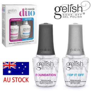 GELISH Nail Polish DUO Gel FOUNDATION or TOP IT OFF Base/Top Coat 15ml