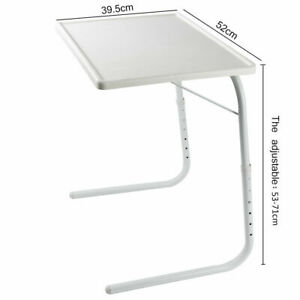 Portable Folding Home Office Laptop Computer Study Table Desk White Bed Table UK