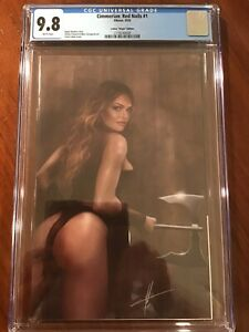 Cimmerian Red Nails #1 CGC 9.8 Carla Cohen Virgin Edition Variant Cover Ablaze