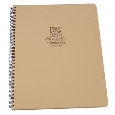 "Rite in the Rain Universal Maxi Side Spiral Notebook, Size 8.5"" X 11"", Brown"