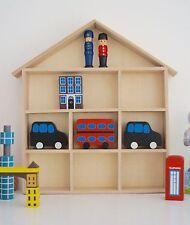CASA in legno mensola di Visualizzazione Stoccaggio Decorativo dei bambini Camera da Letto DECOUPAGE