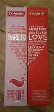 2 X COLGATE TOOTHPASTE DARE TO LOVE  MINTY FLAVOR HEART SHAPED STRIPS 130G EACH