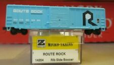 z scale micro trains ROUTE ROCK BOXCAR  MINT IN BOX