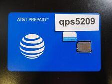 New At&T Prepaid Go Phone 4G Loose-Bulk Nano Sim Card Sku#6944A Talk ,Text Data