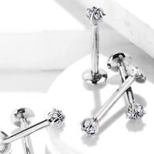 Cubic Zirconia Titanium Ear Body Jewellery