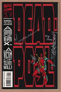 Deadpool #1 (9.4 NM)🔥Double Signed Joe Madureira & Fabian Nicieza+COA🔥DF/2000