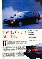 1990 Toyota Celica All-Trac Turbo Original Car Review Print Article J553