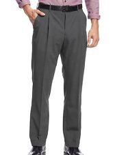 NWT Nautica Size 32x30 Men's Charcoal Gray Mini Check Pleated Dress Pants