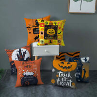 Halloween Pumpkin Cushion Cover Square Pillow Case Thanksgiving Day Decoration &