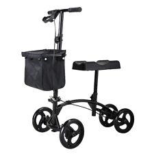 4 Wheel Steerable Knee Walker Scooter w/Storage Basket Adjustable Height