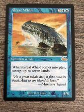 New ListingMtg Great Whale Urza's Saga Nm - Reserved List!