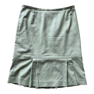 COAST A Line Skirt Green Size 12 Wool Blend Lined 30 W Smart Autumn Winter