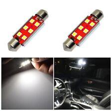 Alla Lighting 2pc 800LM 3030 6-LED Dome Map Trunk Light Festoon Bulb 578,White