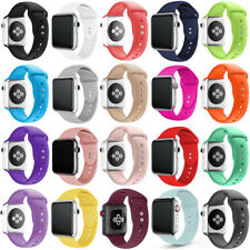 Silicone Replacement Sport Wrist Band Strap For Apple Watch Series 5/3/2/4 38/44