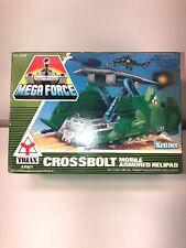 1989 kenner mega force Crossbolt Mobile Armored Helipad Triax New Nib