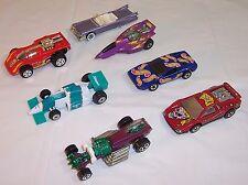 """7 Hot Wheels 1989 Cadillac,1986 Hong Kong Racing,1994 XT-3,1977 """"Hot Wheels"""" car"""