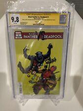 Black Panther Vs Deadpool Comic 1 CGC 9.8 SS X2 Lopez & Kibblesmith