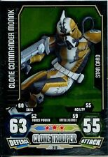 Star Wars Force Attax Series 3 Card #217 Clone Commander Monnk