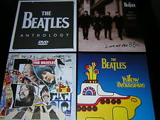 4 BEATLES PROMOTIONAL 12X12 CARDS - YELLOW SUBMARINE/ANTHOLOGY +2
