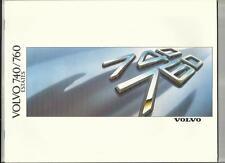 VOLVO 740 AND 760 ESTATES (GL, GLE, TURBO & TURBO DIESEL) SALES BROCHURE 1998