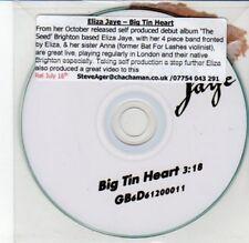 (DD136) Eliza Jaye, Big Tin Heart - DJ CD