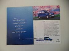 advertising Pubblicità 1998 RENAULT KANGOO