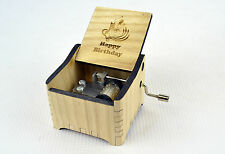 Happy Birthday / Personalized Hand Crank Wooden Music Box